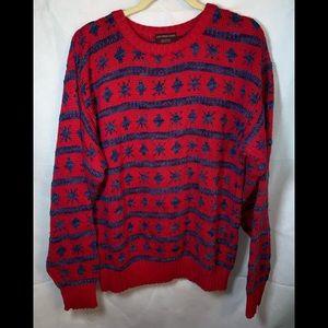 CHAPS RALLH LAUREN LARGE Snowflake sweater vintage